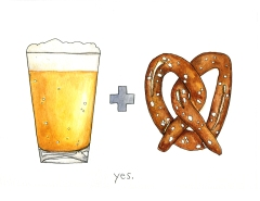 beer-+-pretzel