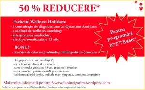 Voucher 50% reducere Pachetul Wellness Holidays